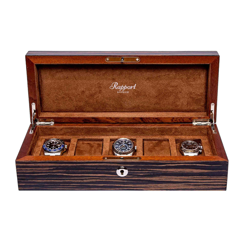 Rapport-Watch Box-Heritage Five Watch box-Macassar