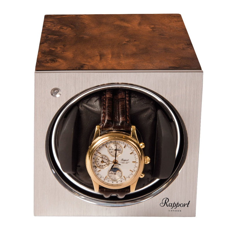 Rapport-Watch Winder-Tetra Mono Watch Winder-Walnut