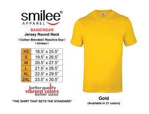 BASIC JERSEY ROUND NECK (GOLD)