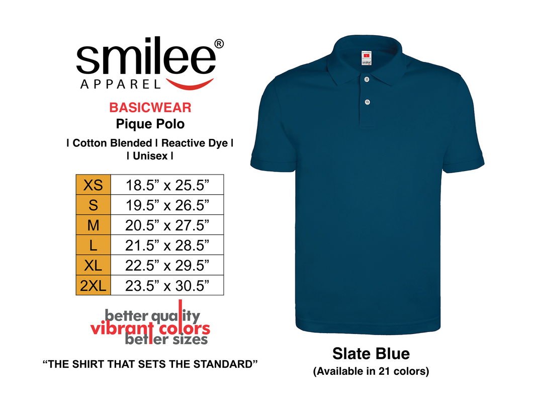 BASIC PIQUE POLO (SLATE BLUE)