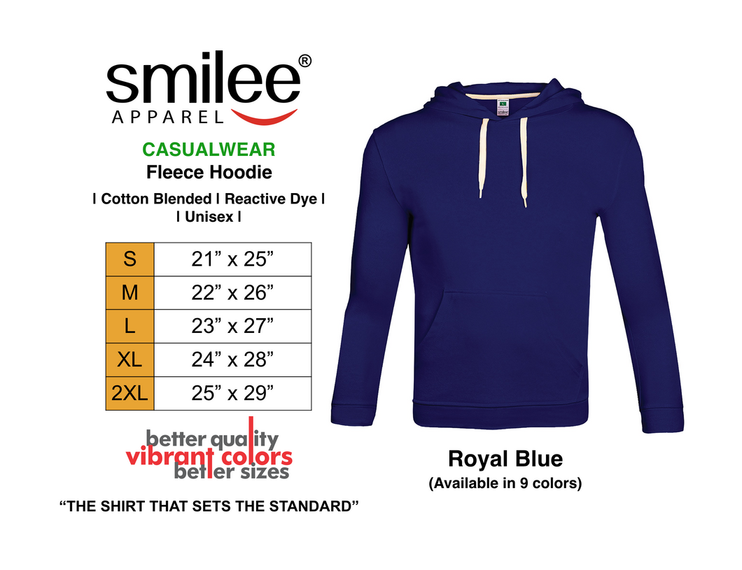 FLEECE HOODIE (ROYAL BLUE)