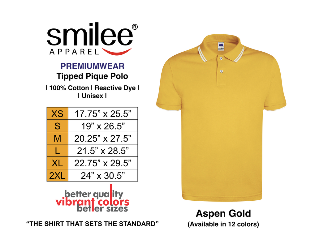 PREMIUM TIPPED PIQUE POLO (ASPEN GOLD)