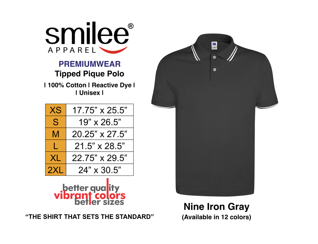 PREMIUM TIPPED PIQUE POLO (NINE IRON GRAY)