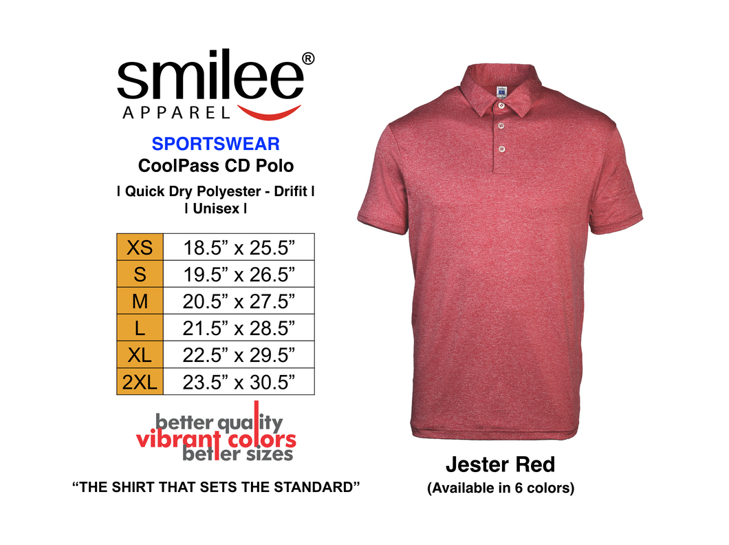 COOLPASS CD POLO (JESTER RED)