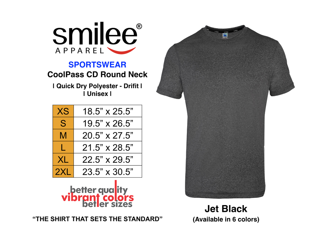 COOLPASS CD ROUND NECK (JET BLACK)