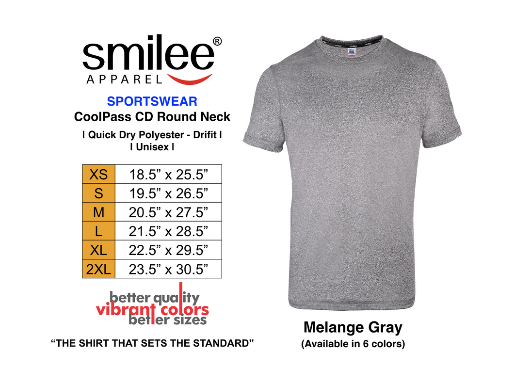 COOLPASS CD ROUND NECK (MELANGE GRAY)