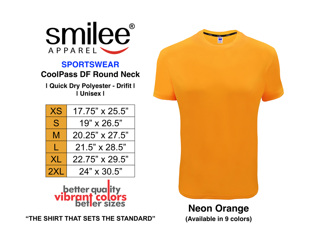 COOLPASS DF ROUND NECK (NEON ORANGE)