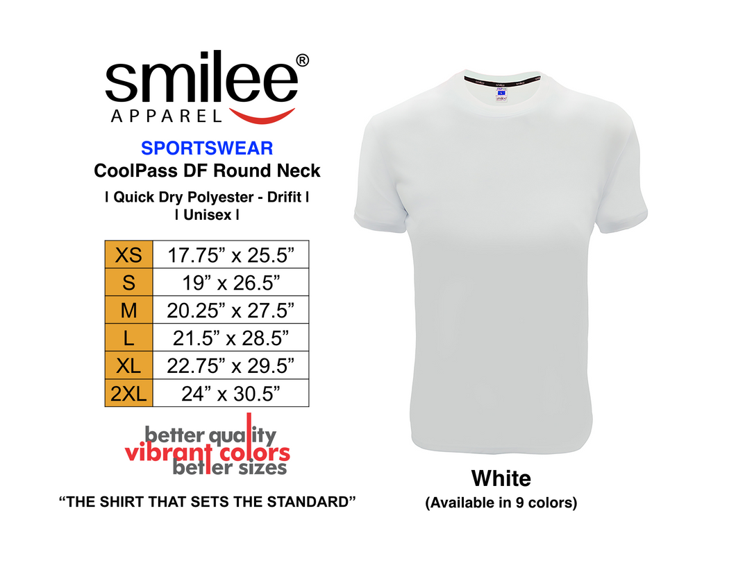 COOLPASS DF ROUND NECK (WHITE)