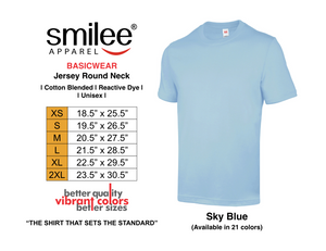 BASIC JERSEY ROUND NECK (SKY BLUE)