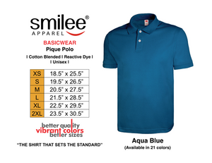 BASIC PIQUE POLO (AQUA BLUE)