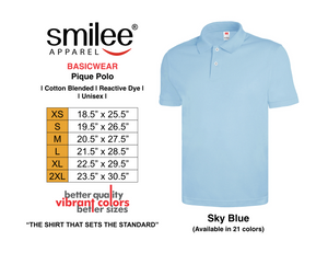 BASIC PIQUE POLO (SKY BLUE)