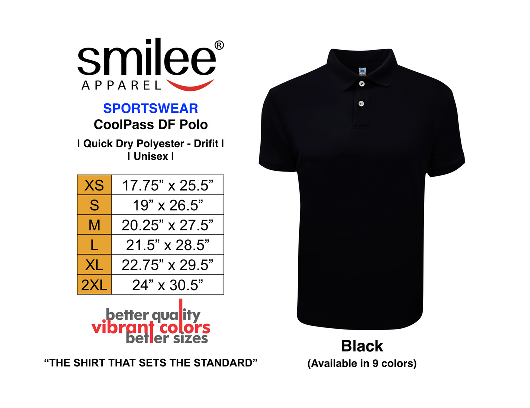 COOLPASS DF POLO (BLACK)