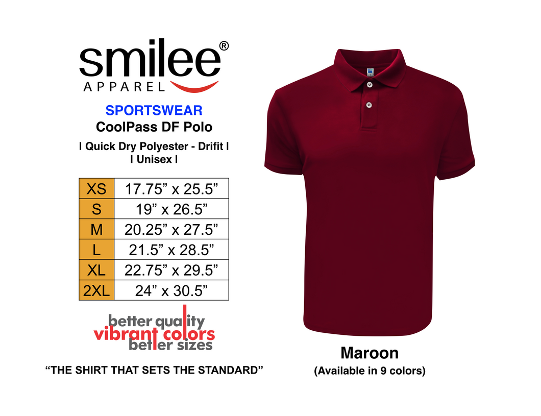 COOLPASS DF POLO (MAROON)