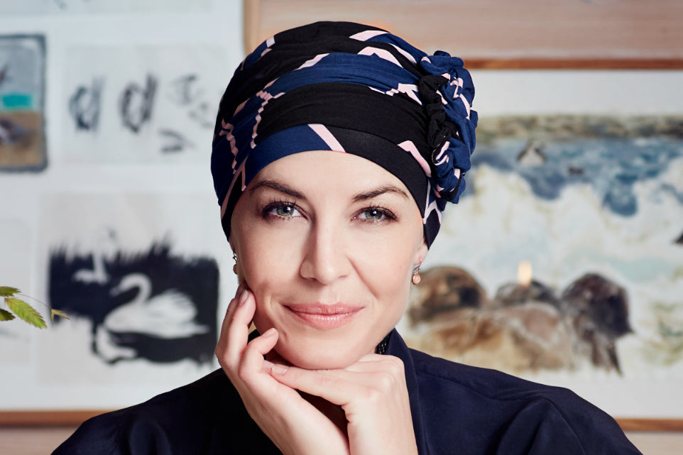 Turbante Lotus - Fantasia Astratta - Collezione Christine Headwear  Autunno-Inverno 2017/2018