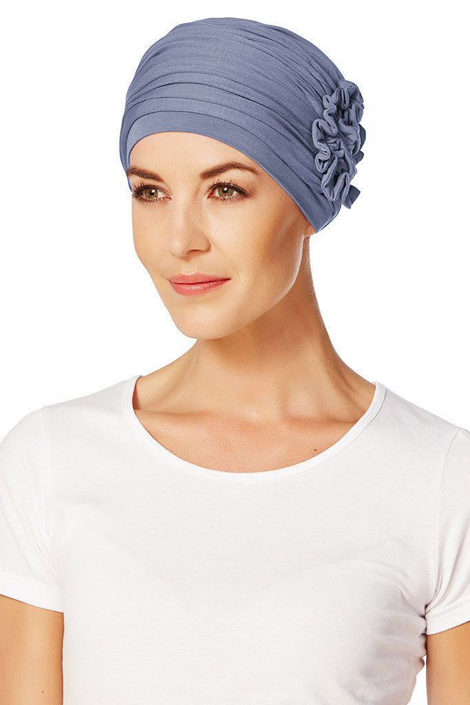 Turbante Lotus - Azzurro Scuro