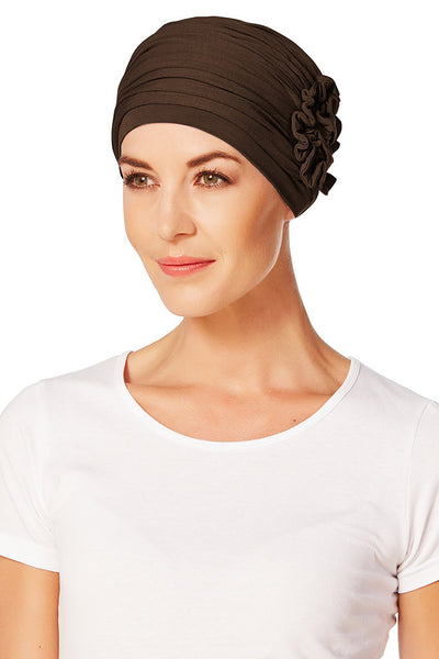 Turbante Lotus - Marrone Scuro