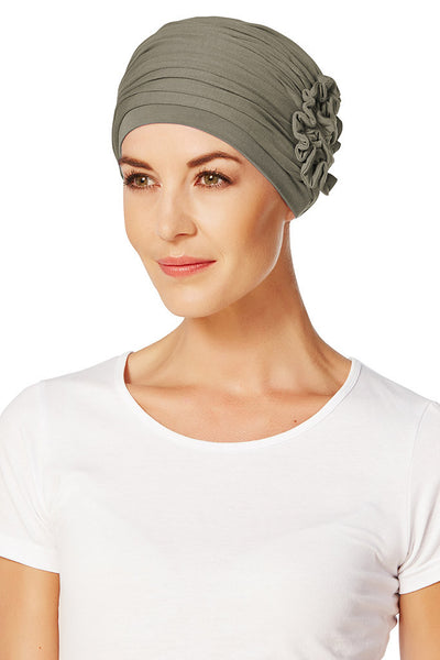 Turbante Lotus - Verde/Marrone
