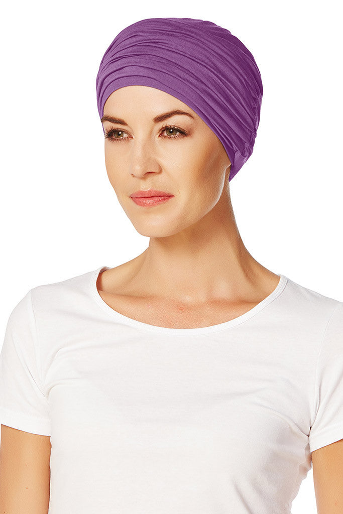 Karma - Turban with a Headband in Viscose of Bamboo - Solid Color - 8278/1005
