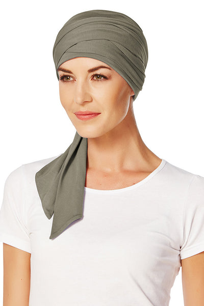 Mantra - a Turban with Ribbons in Viscose of Bamboo - 1011-xxxx