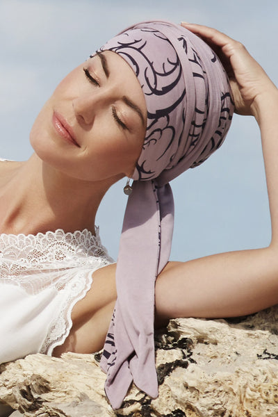 Mantra - Turbante in viscosa di bambù - Fantasia liberty 1012-0473