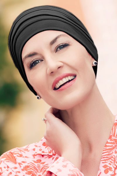 Bea - Turban Fabric With 37.5 Technology - Black Color-1241-0590