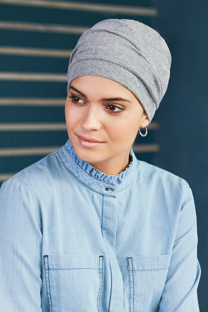 Turban Nelly - Turban cotton and polyester - grey melangé 1287-0508