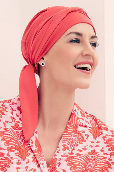 Beatrice - Turbante in Tessuto 37,5 Technology - Colore Corallo 1291-0244