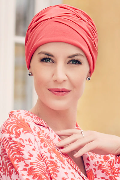 Becca - Turban Fabric With 37.5 Technology - Coral Color 1293-0244
