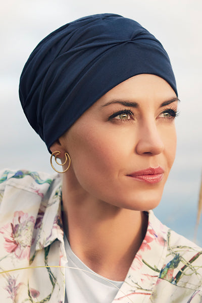Becca - Turban Fabric With 37.5 Technology - Dark Blue Color 1293-0383