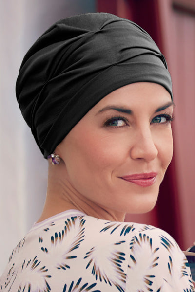 Becca - Turban Fabric With 37.5 Technology - Black Color-1293-0590