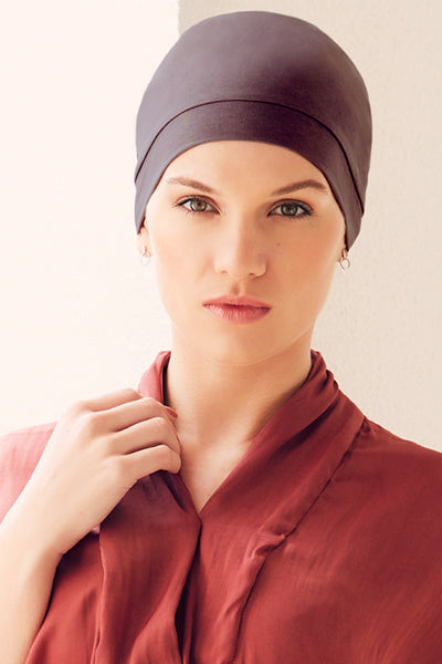 Laura - Cuffia/Turbante in cotone/viscosa fucsia 1356-xxxx