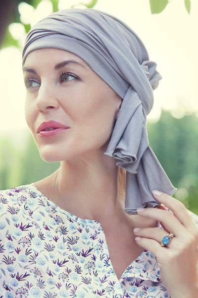 Turban Tula in Viscose of Bamboo - dark blue melangé 1366-0391