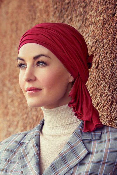 Turban Tula in Viscose of Bamboo - red 1366-0384