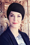 Headwear'hiver - Turban shirt in cotton - black - 1372-0211