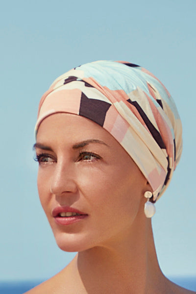 Turban Shakti - Turban in bamboo viscose - patterned 1418-0618