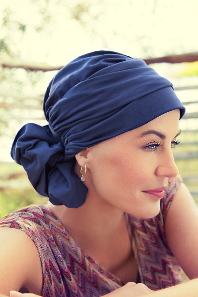 Turban Lotus - Turban in Viscose of Bamboo - patterned 1008-0618