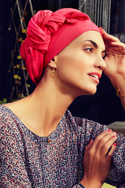 Sapphire - Turban in viscose with long tape-removable - pink 3009-0597