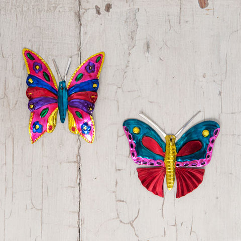 butterfly tin decorations