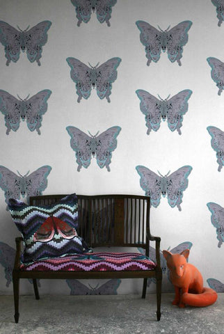 Butterfly Wallpaper by Timorous Beasties