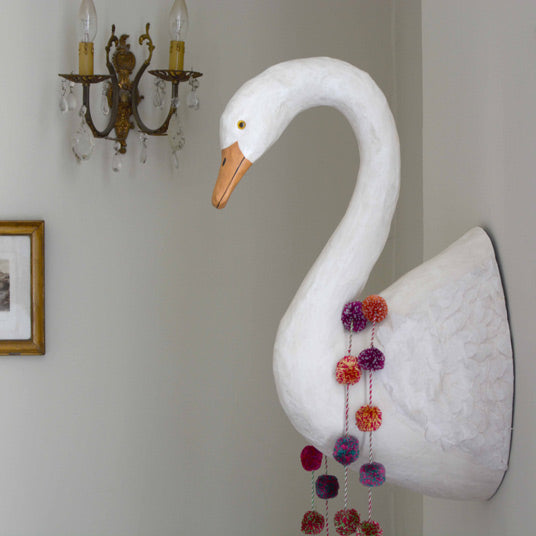 swan wall decoration