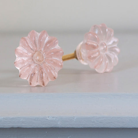 Floral Drawer Knobs - Pink