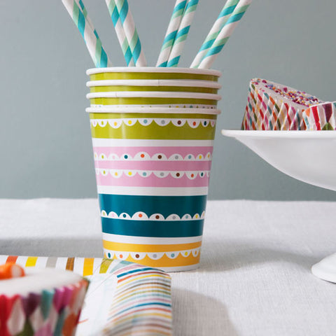 Patterned Party Cups