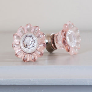 Pink Flower Drawer Knobs