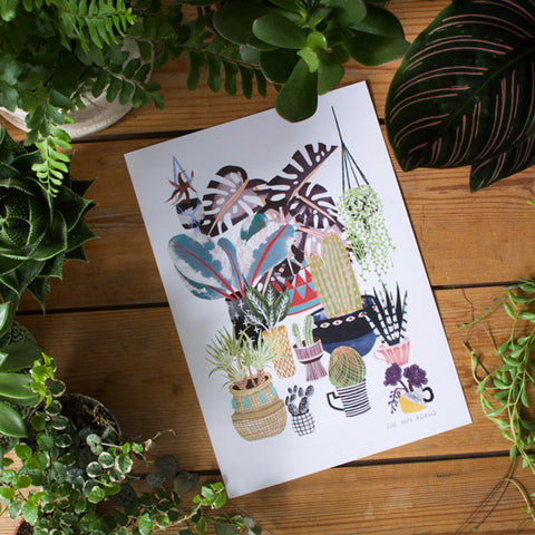 Plant Illustration - Plant Parade Print