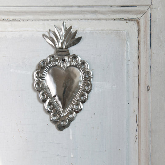 Heart Decoration - Silver