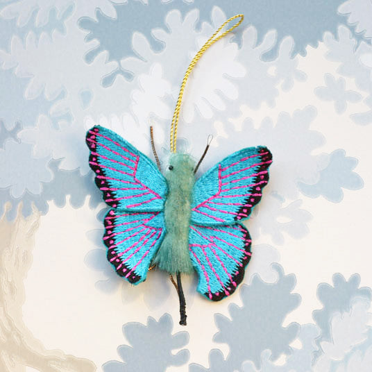 Turquoise Butterfly Decoration