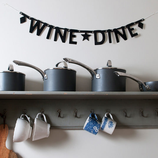 Wine Dine Wall Banner
