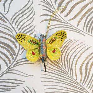 Yellow Butterfly Decoration