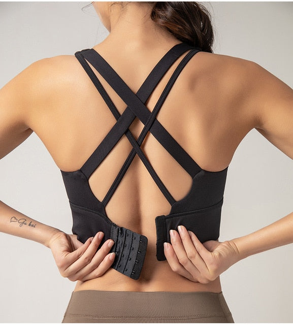 Criss-Cross Clasped Sports Bra