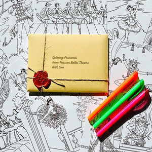 Ballet Themed Coloring Postcards Set